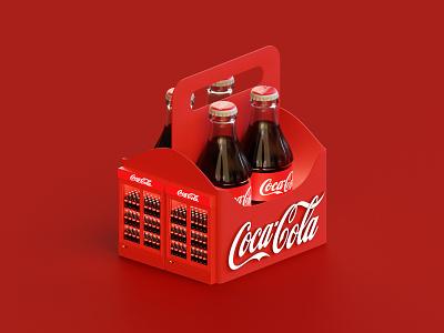 Coca-Cola Booth cocacola render lowpoly isometric illustration blender blender3d 3d