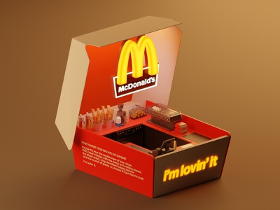 McDonald's booth mcdonalds illustration isometric lowpoly blender3d blender animation booth 3d