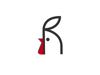 Rooster + R letter