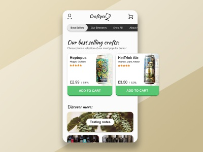 Craft Beer UI Concept web website app typography design branding ui app design invisionstudio