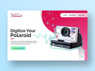 Digitize Your Polaroid - UI Concept for Desktop website design userinterface uidesign ui polaroid illustration ux typography invisionstudio branding