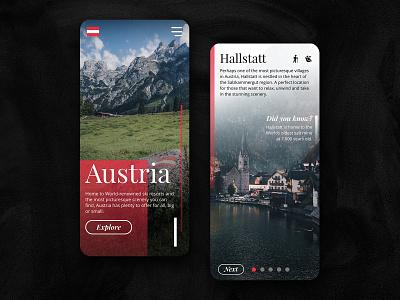 Visit Austria - UI Concept for Travel & Tourism userinterface website design ux ui invisionstudio branding travel app tourism leisure abstract mobile app travel