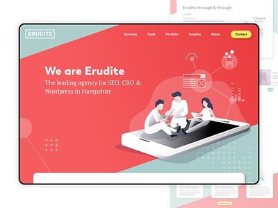 SEO Agency Homepage Concept - Desktop sketch typography design branding desktop uiux uidesign ui concept homepage analytics cro seo