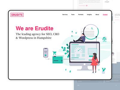 SEO Agency Homepage Concept 2 - Desktop ui uidesign sketch userinterface design typography branding agency branding homepage seo agency analytics cro seo