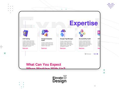 Service Card Carousel for Technical Marketing Agency - Erudite design c4d 3d illustration branding website userinterface typography sketch uidesign ui