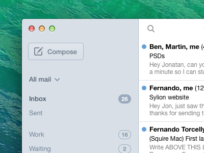 Email client sketch