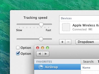 Mavericks UI Kit for Sketch sketch ui kit osx mavericks mac apple