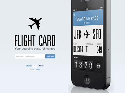 Flightcard website preview