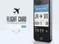 Flight card teaser website