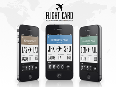 Flight Card website flight card track tracking tracker ios iphone ipod touch boarding pass reinvented