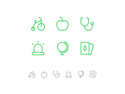 Random icons 25 bike cards siren alert alarm apple icons outline ios