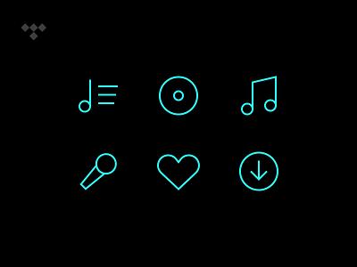 Tidal Iconography ios icons streaming music tidal