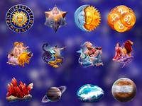 Zodiac symbols animation