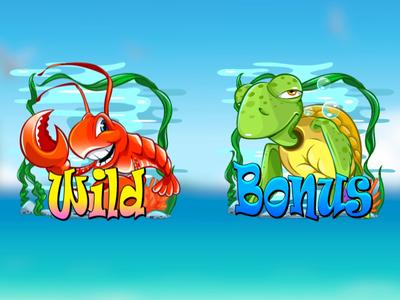 """Dream Island"" illustration 2d spine vector 2d animation digital art gambling slot machine slot game game designer game design game art game art for sale summer underwater beach sea lobster tortilla"