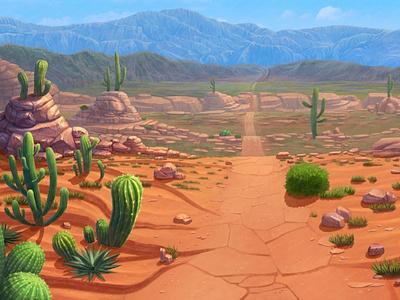 Mexican Desert game artist design art digital painting game design game art illustration digitalart gambling digital rocks mexican art desert digital illustration slot machine slot background design digital design digital art