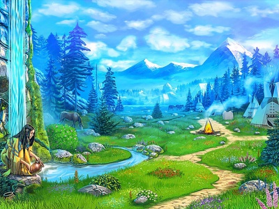 Indians settlement as a slot machine background slot game developer slot game art slot design art background picture background image background illustration background design background art background slot game graphics slot game design slot game slot machine illustration game art slot design