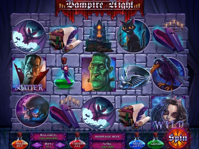 The game reel in the Vampire Night slot casino development casino developer casino design casino slot game reels art reels design slot game graphics casino games casino slot slot games slot game design slot game art slot reel game reels reels illustrations illustration game art slot design
