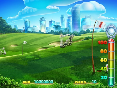 Golf themed game Background slot game graphics slot game developer slot game design slot game art game graphics golf themed slot golf slot golf themed background illustration background art background design background illustrations illustration game art slot design
