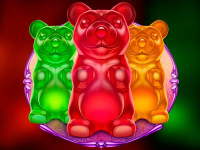 Candy World Bears lollipops sweet magic marmalade caramel unicorns candies sweaty play candy slot game world
