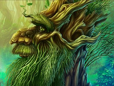 Druid forest folk bread main symbol for slot mystic forest slotdesign slot developer slot slot game slot machine symbolforslot characterdesign character druid tree trees slot design slot art slotopaint.com illustration