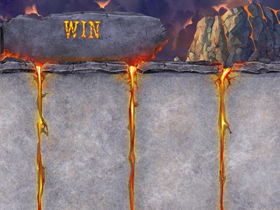 """Super Phoenix"" UX Design button hell clouds gamedevelopment smoke casino gray design rock mountain game art volcano red slot design flame lava slotopaint.com fire ux design stones"