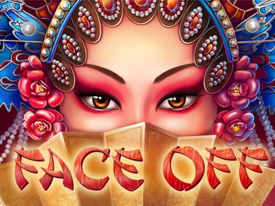 "Gaming logo for Chinese-themed slot ""Face Off"""
