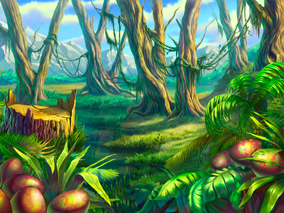 """Dinosaur Century"" slot background"