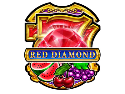 Red Diamond game design slot panel reels ui ux bar luck watermelon grape lemon illustrations digital cherry fruits 777 classic slot ruby diamond illustration