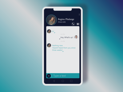 Day 013 | Chat page Design