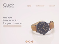 E-commerce Page   Watches Website