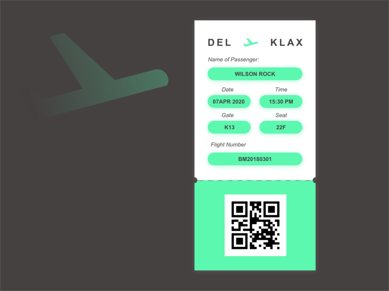 Day 024 | Design a boarding ticket