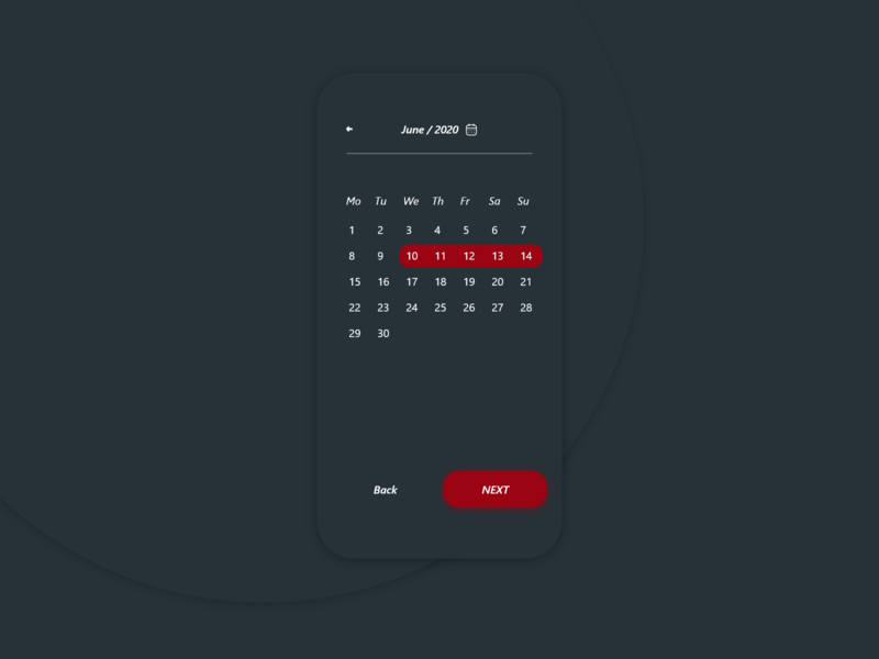 Day 80 l Date Picker datepicker day 80 dailyui 080 app web adobe xd 100 days challenge website mobile app dayliui design ux ui
