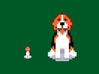 Beagle pixelart