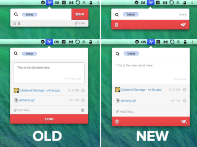 Infinit - New Send View