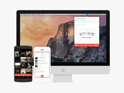 Infinit for iOS & Android infinit ios ios app transfer file sharing android android app imac nexus iphone
