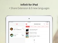 Infinit for iPad