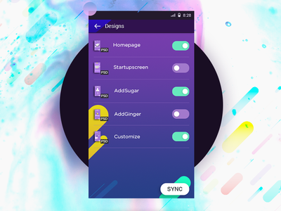 Sync (WIP) material design multiple sync files switch synchronization sync