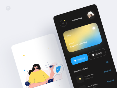Secure Payment concept 2d illustration illustration art illustrations flat payment app payment secure security app colors animatedillustration animated illustration app ui design ux design wallet mobile app clean minimal
