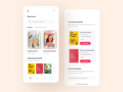 Ebook app clean app design search cart reading ebook books booking clean card shop book cover design book cover book book design discover reading app books app book app online education education