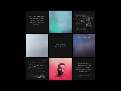 Campaign for Samuel Eisen Meyers' The Heart of the Soul Pt. 2 album music typography layout
