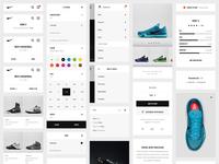 Nike.com Redesign — UI Kit