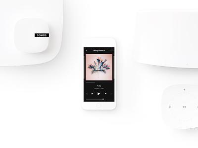 Sonos App Redesign system design speakers ui audio product app player music sonos