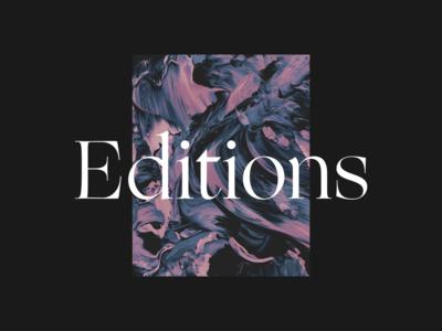 Editions — Jordan Sowers