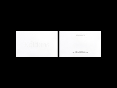 Editions cards identity helvetica cards layout typography