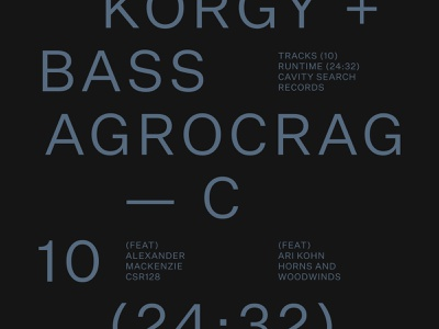 Korgy Bass — Agrocrag layout typography