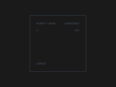 Korgy + Bass — Release labels typography art music layout typography