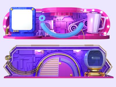 JD  Electronics Products Promotion Activity blue 3d c4d design dribbble