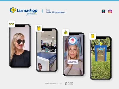Farmashop - Social AR Engagement case study engagement social filter instagram spark augmented reality ar