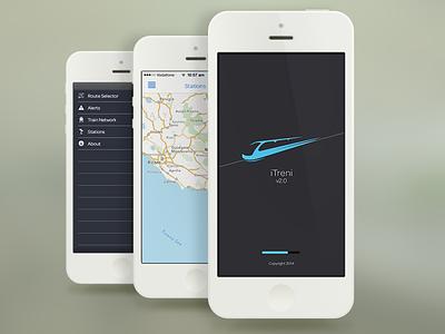iTreni - Train application redesign for iOS7 ios mobile app itreni visual ux design varun mohapatra interface