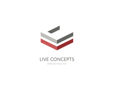 Live Concepts Architects live concepts architect branding brand identity 3d minimal logo